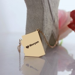 Map Shape Necklaces