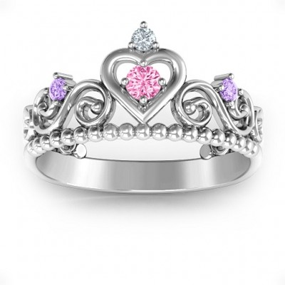 Personalized Princess Charming Tiara Ring - Handmade By AOL Special