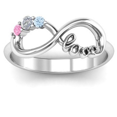 Customised Infinity Promise Ring With Birthstone Infinity Love Ring - Handmade By AOL Special