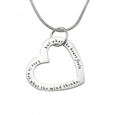 Personalized Always in My Heart Necklace - Sterling Silver - Handmade By AOL Special