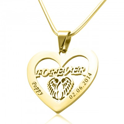 Personalized Angel in My Heart Necklace - 18ct Gold Plated - Handmade By AOL Special