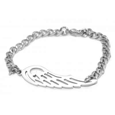Personalized Angels Wing Bracelet - Silver - Handmade By AOL Special