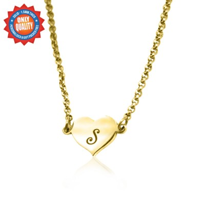 Personalized Precious Heart - 18ct Gold Plated - Handmade By AOL Special
