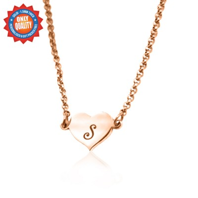 Personalized Precious Heart - 18ct Rose Gold Plated - Handmade By AOL Special