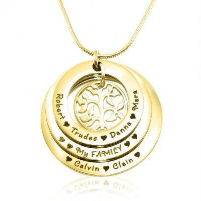 Personalized Family Triple Love - 18ct Gold Plated - Handmade By AOL Special