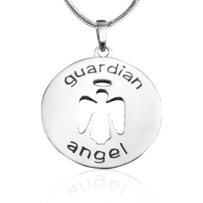 Personalized Guardian Angel Necklace 1 - Sterling Silver - Handmade By AOL Special