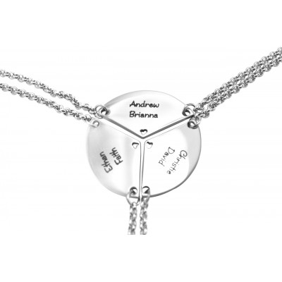Personalized Meet at the Heart Triple - Three Personalized Necklaces - Handmade By AOL Special