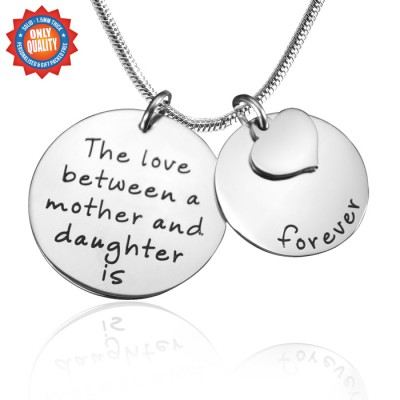 Personalized Mother Forever Necklace - Silver - Handmade By AOL Special