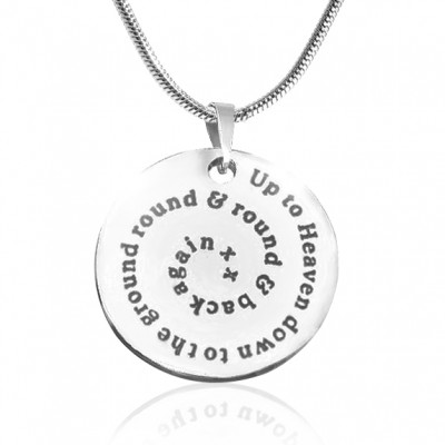 Personalized Swirls of Time Disc Necklace - Sterling Silver - Handmade By AOL Special