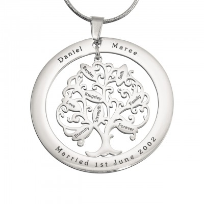Personalized Tree of My Life Washer 8 - Sterling Silver - Handmade By AOL Special