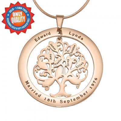 Personalized Tree of My Life Washer 10 - 18ct Rose Gold Plated - Handmade By AOL Special