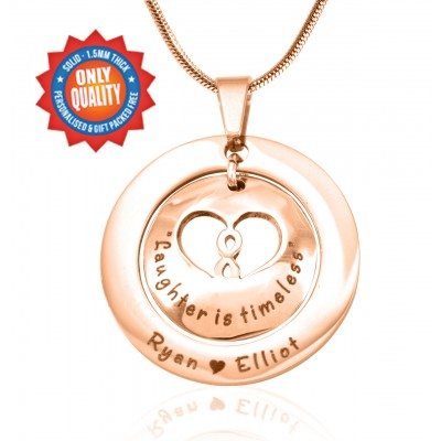 Personalized Infinity Dome Necklace - 18ct Rose Gold Plated - Handmade By AOL Special