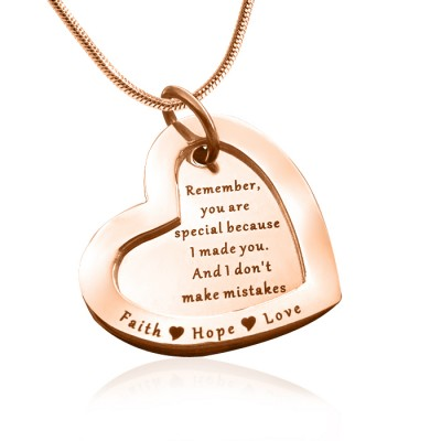 Personalized Love Forever Necklace - 18ct Rose Gold Plated - Handmade By AOL Special