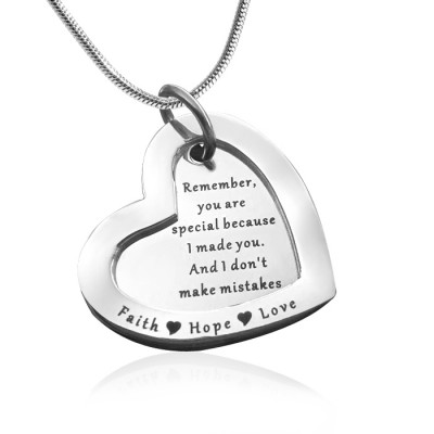 Personalized Love Forever Necklace - sterling Silver - Handmade By AOL Special