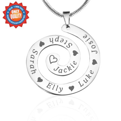 Personalized Swirls of Time Necklace - Sterling Silver - Handmade By AOL Special