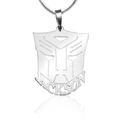 Personalized Transformer Name Necklace - Sterling Silver - Handmade By AOL Special
