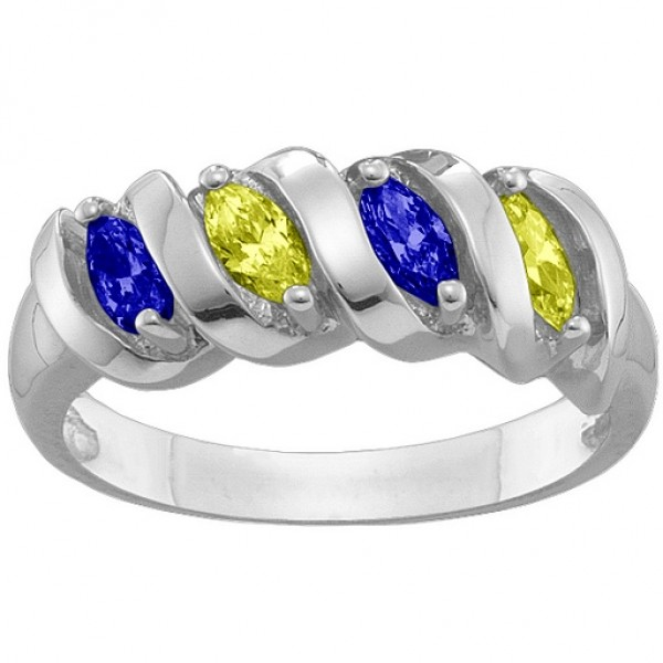 2-6 Marquise Spiral Ring - Handmade By AOL Special