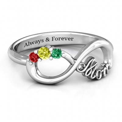 Mom's Infinite Love Ring with 2-10 Stones - Handmade By AOL Special