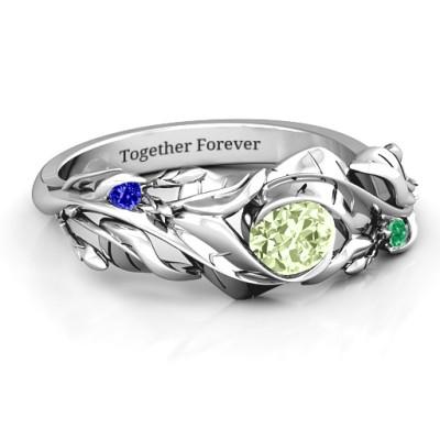 Organic Leaf Ring - Handmade By AOL Special