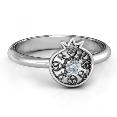 Pomegranate with Filigree Ring - Handmade By AOL Special