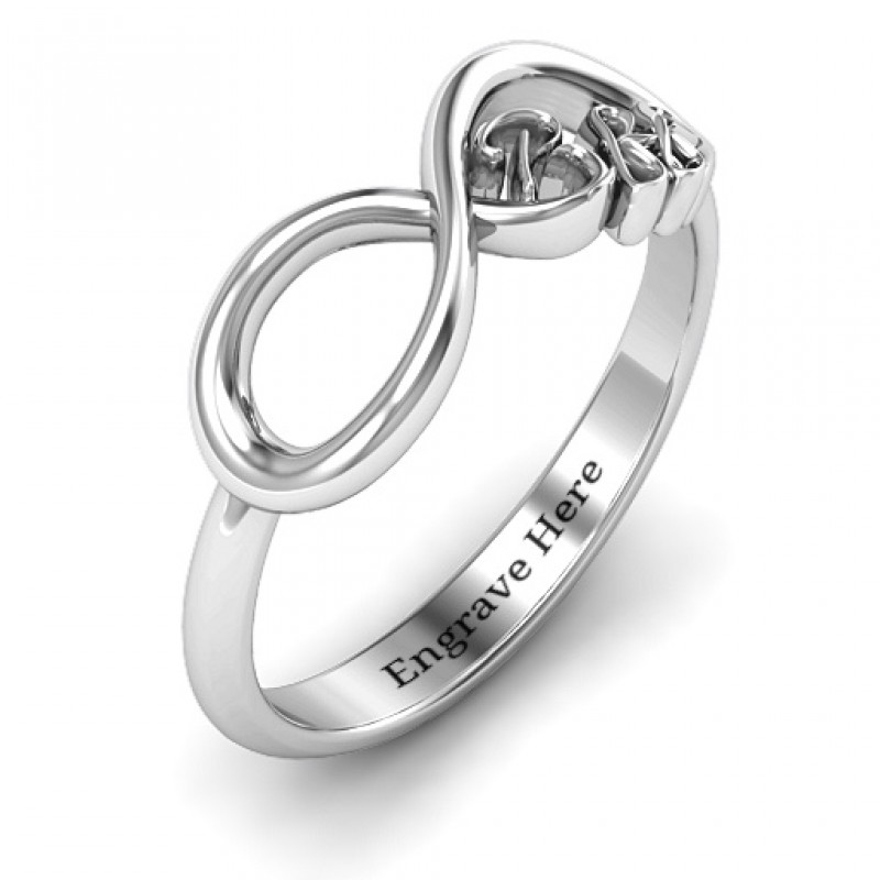 ca7fcc133afe1d ... Sterling Silver BFF Friendship Infinity Ring - Handmade By AOL Special  ...