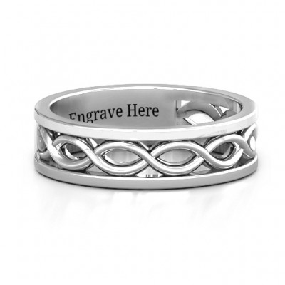 Sterling Silver Diadem Infinity Women's Ring - Handmade By AOL Special