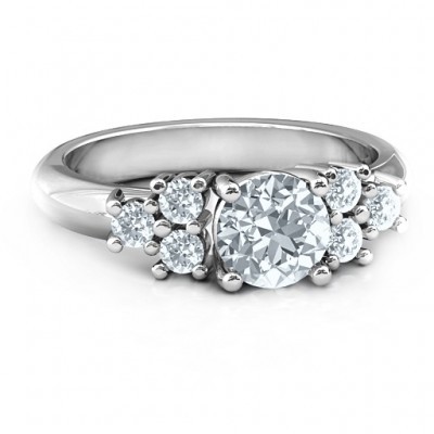 Sterling Silver Flourish Engagement Ring - Handmade By AOL Special