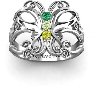 Sterling Silver Precious Butterfly Ring - Handmade By AOL Special