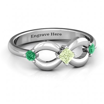 Sterling Silver Princess Infinity Ring - Handmade By AOL Special