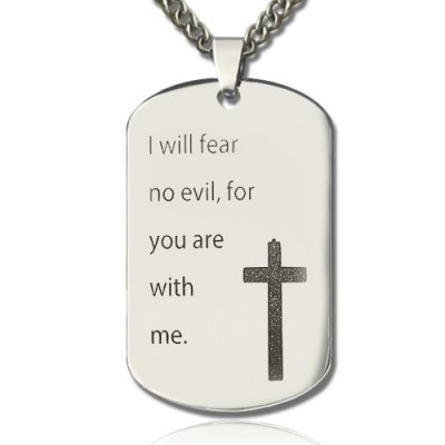 Military Dog Tag Name Necklace - Handmade By AOL Special