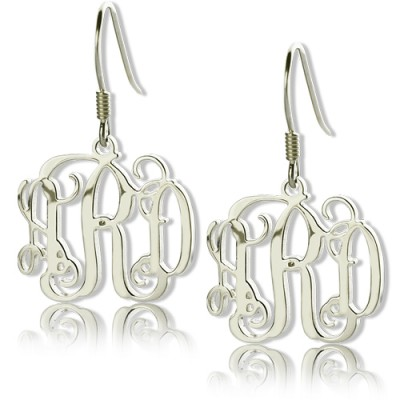 Personalized Sterling Silver Monogram Earrings - Handmade By AOL Special