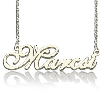 Personalized Nameplate Necklace Sterling Silver - Handmade By AOL Special