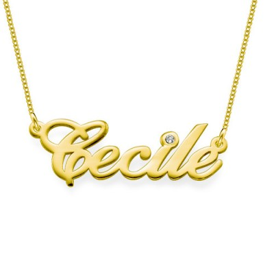 18ct Gold and Diamond Name Necklace - Handmade By AOL Special