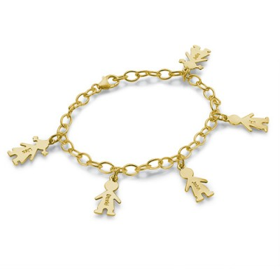 18ct Gold Plated Silver Engraved Kids Bracelet - Handmade By AOL Special