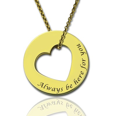 Always Be Here For You Promise Necklace - Handmade By AOL Special