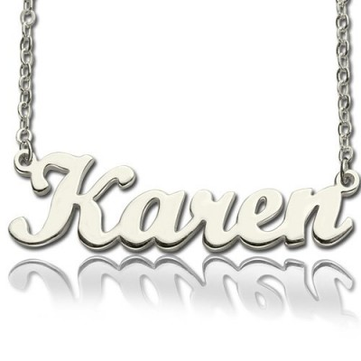 Personalized Script Name Necklace Sterling Silver - Handmade By AOL Special