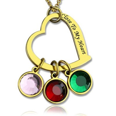 Personalized Close to My Heart Necklace 18ct Gold Plated - Handmade By AOL Special