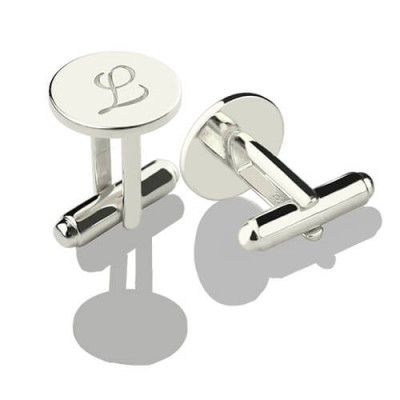 Cool Initial Cuff links Sterling Silver - Handmade By AOL Special