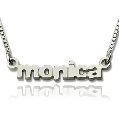 My Tiny Name Necklace Custom Sterling Silver - Handmade By AOL Special