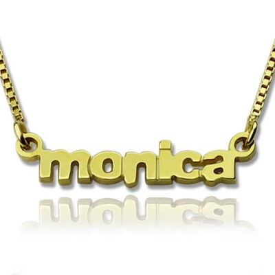 Personalized Small Lowercase Name Necklace in 18ct Gold Plated - Handmade By AOL Special