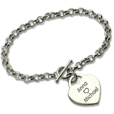 Classic Padlock Heart Toggle Bracelet with Free Filigree Keepsake Box - Handmade By AOL Special