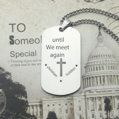 Remembrance Dog Tag Name Necklace - Handmade By AOL Special