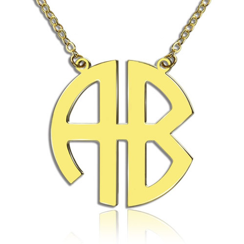 18ct Gold Plated 2 Letters Capital