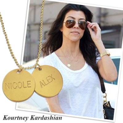 18ct Gold Plated Silver Disc Pendant Necklace - Handmade By AOL Special