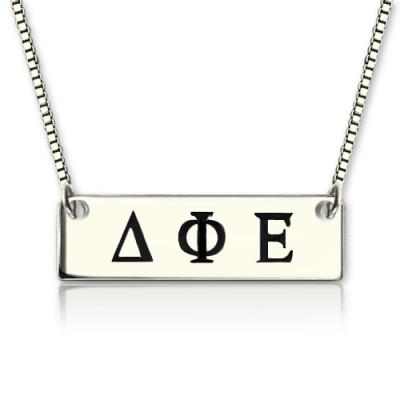 Custom Alpha Gamma Delta Greek Letter Sorority Bar Necklace - Handmade By AOL Special