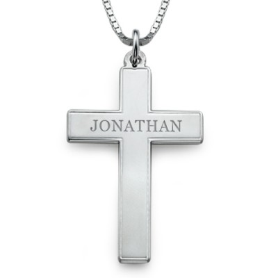 Men's Personalized Cross Necklace - Handmade By AOL Special