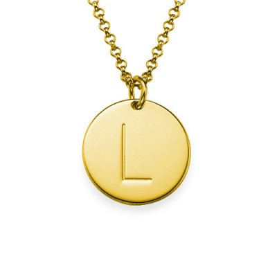 18k Gold Plated Initial Charm Necklace - Handmade By AOL Special