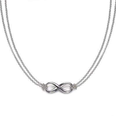 Silver Infinity Necklace - Handmade By AOL Special