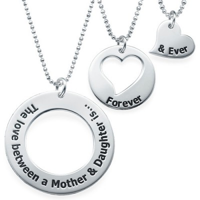 Mother Daughter Jewelry - Three Generations Necklace - Handmade By AOL Special