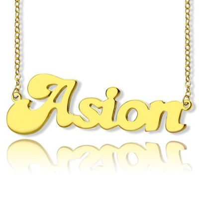 Ghetto Cute Name Necklace 18ct Gold Plated - Handmade By AOL Special